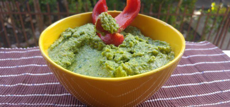 Hummus verde cu spanac și avocado
