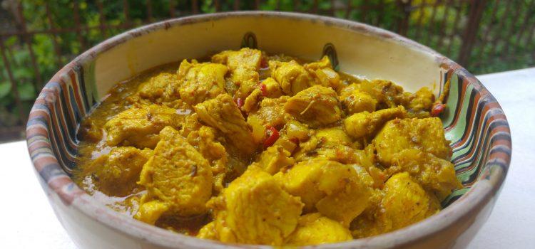 Curry indian din piept de pui cu iaurt