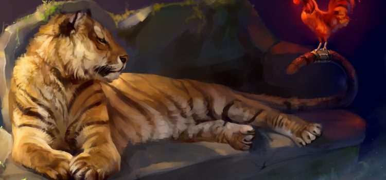 Ania, tigrul și cocoșul nostru sacrificat